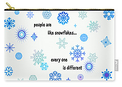 Snowflakes 3 Carry-all Pouch by Methune Hively