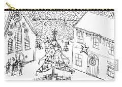 Snowing At Christmas Carry-all Pouch by Artists With Autism Inc