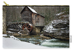 Snowing At Glade Creek Mill Carry-all Pouch by Steve Hurt