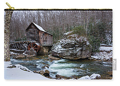 Snowing At The Mill  Carry-all Pouch by Steve Hurt