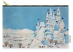 Snowman Castle Carry-all Pouch by Christian Kaempf