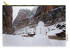 Snowman In Zion Carry-all Pouch