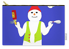 Snowman Juggler Carry-all Pouch by Barbara Moignard