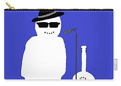 Snowman Musician Carry-all Pouch by Barbara Moignard
