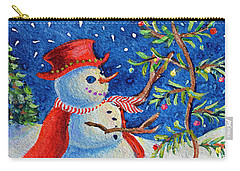 Snowmas Christmas Carry-all Pouch