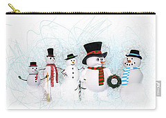 Snowmen Carry-all Pouch by Methune Hively