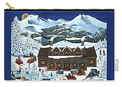 Snowmobile Holiday Carry-all Pouch