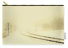 Snowstorm In The Yard S Carry-all Pouch