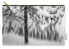 Carry-all Pouch featuring the photograph Snowy-2 by Okan YILMAZ