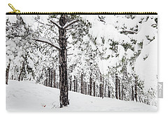 Carry-all Pouch featuring the photograph Snowy-4 by Okan YILMAZ