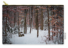 Snowy Bench Carry-all Pouch