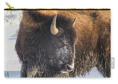 Snowy Bison Carry-all Pouch
