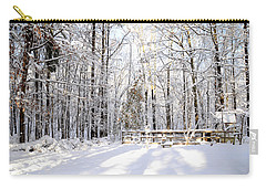 Snowy Chicken Coop Carry-all Pouch