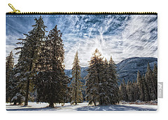Snowy Clouds Carry-all Pouch