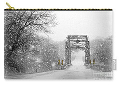 Snowy Day And One Lane Bridge Carry-all Pouch