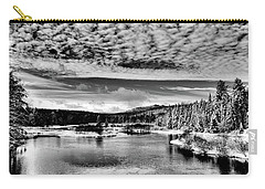 Snowy Day At The Green Bridge Carry-all Pouch by David Patterson