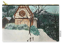 Snowy Daze Carry-all Pouch by Denise Tomasura
