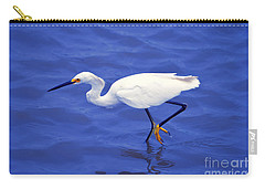 Carry-all Pouch featuring the photograph Snowy Egret 1 by Bill Holkham