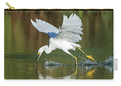 Snowy Egret 4845-091917-2cr Carry-all Pouch
