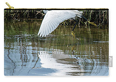 Snowy Egret In Flight Carry-all Pouch