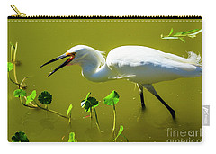 Snowy Egret In Florida Carry-all Pouch