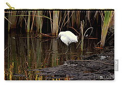 Snowy Egret In Late Afternoon Carry-all Pouch