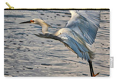 Snowy Egret Landing Carry-all Pouch