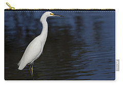 Snowy Egret Perched On A Rock Carry-all Pouch