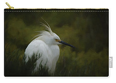 Snowy Egret Portrait Da Carry-all Pouch