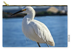 Carry-all Pouch featuring the photograph Snowy Egret Portrait by Robert Bales
