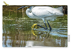 Snowy Egret Reflection Carry-all Pouch