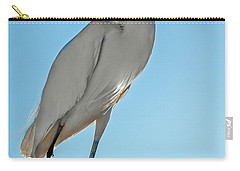 Carry-all Pouch featuring the photograph Snowy Egret by Robert Bales