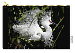 Carry-all Pouch featuring the photograph Snowy Egret by Steven Sparks