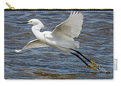 Snowy Egret Taking Off Carry-all Pouch