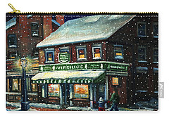 Snowy Evening In Gloucester, Ma Carry-all Pouch