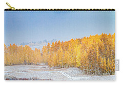 Snowy Fall Morning In Colorado Mountains Carry-all Pouch
