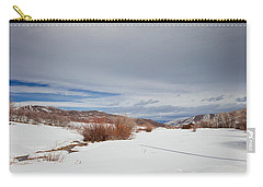 Snowy Field Carry-all Pouch
