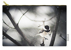 Carry-all Pouch featuring the photograph Snowy Landing by Shane Holsclaw