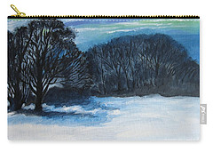Snowy Moonlight Night Carry-all Pouch