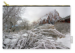 Snowy Mountains In Zion Carry-all Pouch by Daniel Woodrum