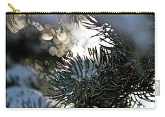 Carry-all Pouch featuring the photograph Snowy Needles by Ann E Robson