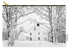 Snowy New England Homestead Carry-all Pouch
