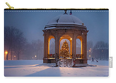 Snowy Night On The Salem Common Carry-all Pouch