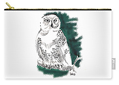 Snowy Owl II Carry-all Pouch by Seth Weaver