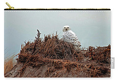 Snowy Owl In Dunes Carry-all Pouch