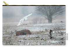 Snowy Owl In Flight 3 Carry-all Pouch by Gary Hall