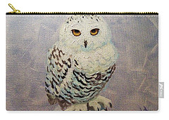 Carry-all Pouch featuring the painting Snowy Owl by Janet McDonald