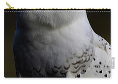 Snowy Owl Profile Carry-all Pouch by Steve McKinzie