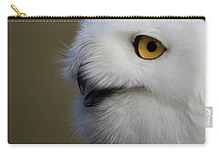 Snowy Owl Up Close Carry-all Pouch by Steve McKinzie