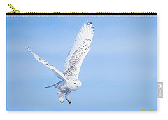 Snowy Owls Soaring Carry-all Pouch